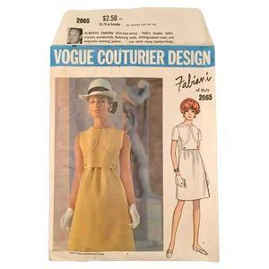 Vogue 2065 - Fabiani Couturier Design Sew Pattern